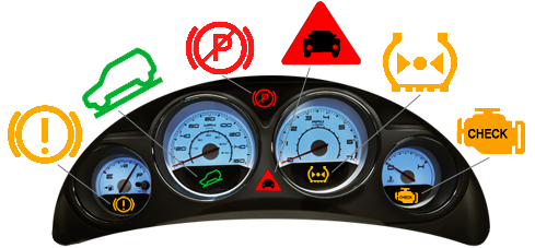 Dashboard warning lights app